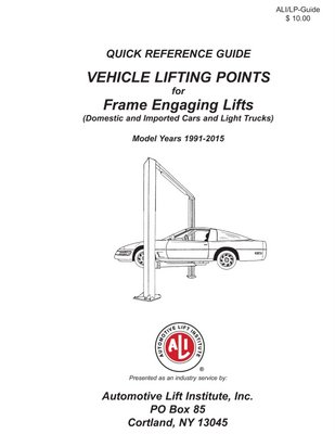 2015 vehicle lifting points guide now available rh techshopmag com Unibody Lift Points Unibody Lift Points