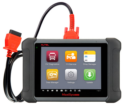Autel MaxiSYS MS906CV complete service tablet for HD service plus all systems diagnostics.