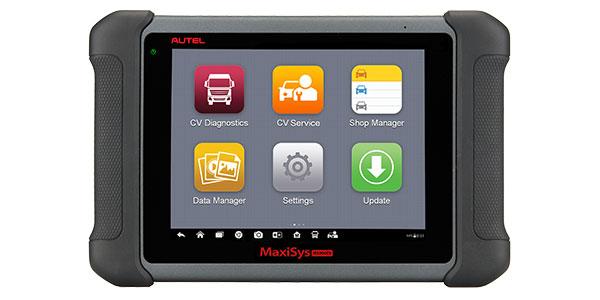 Autel announces its MaxiSYS MS906CV complete service tablet for HD service plus all systems diagnostics.