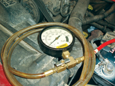 connecting a fuel pressure gauge is a simple way to simultaneously monitor the fuel pump relay and fuel pump activity.