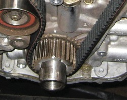 Photo 7: Some of the marks can be difficult to spot unless they're highlighted. This picture is from an in-line 6-cylinder model, not a V8.
