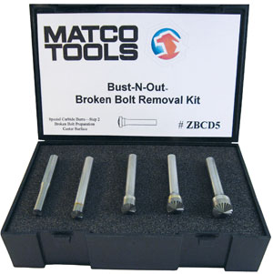 Broken Bolt Removal >> Matco Tools Introduces Exclusive 3 Step Bolt Removal System